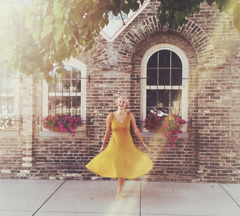 jodi yellow dress